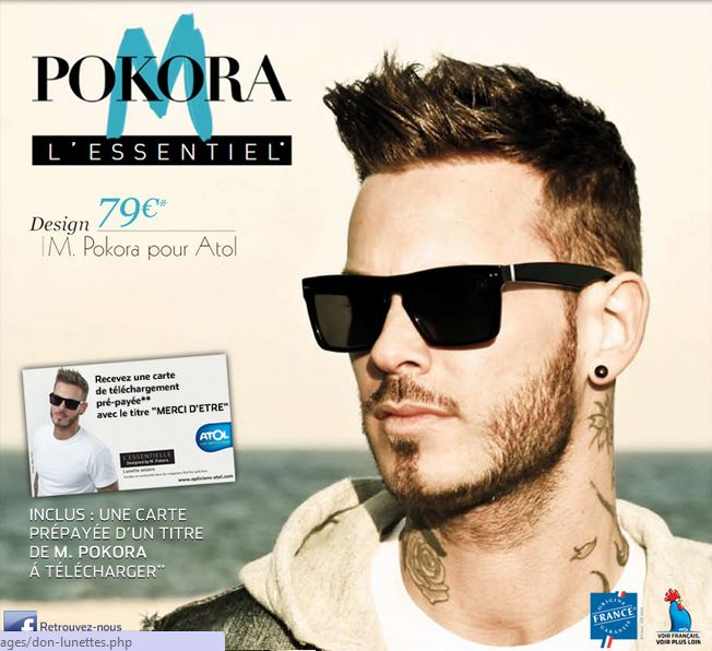 Collection montures solaires M.Pokora