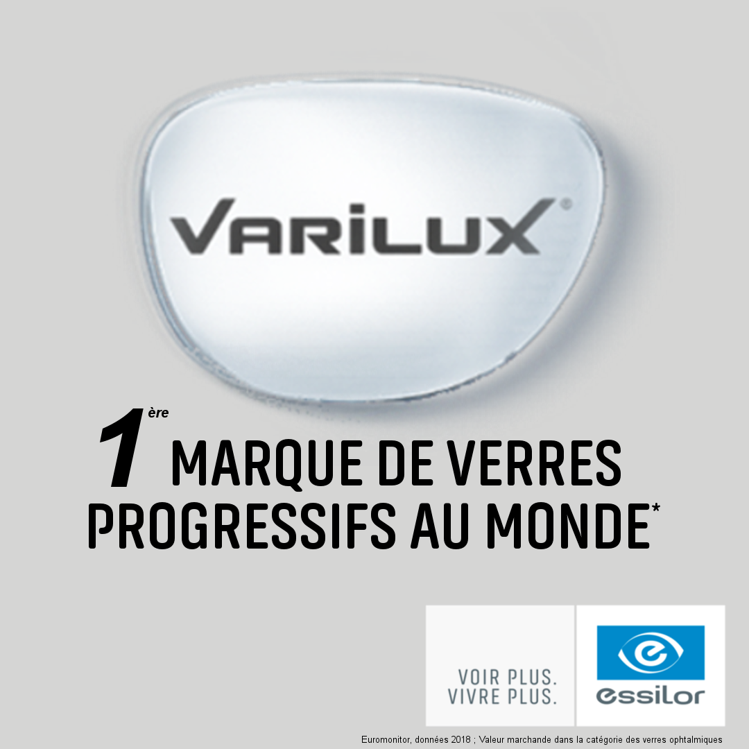 Verres progressifs Varilux E Design - Eye Protect System - Traitements Crizal
