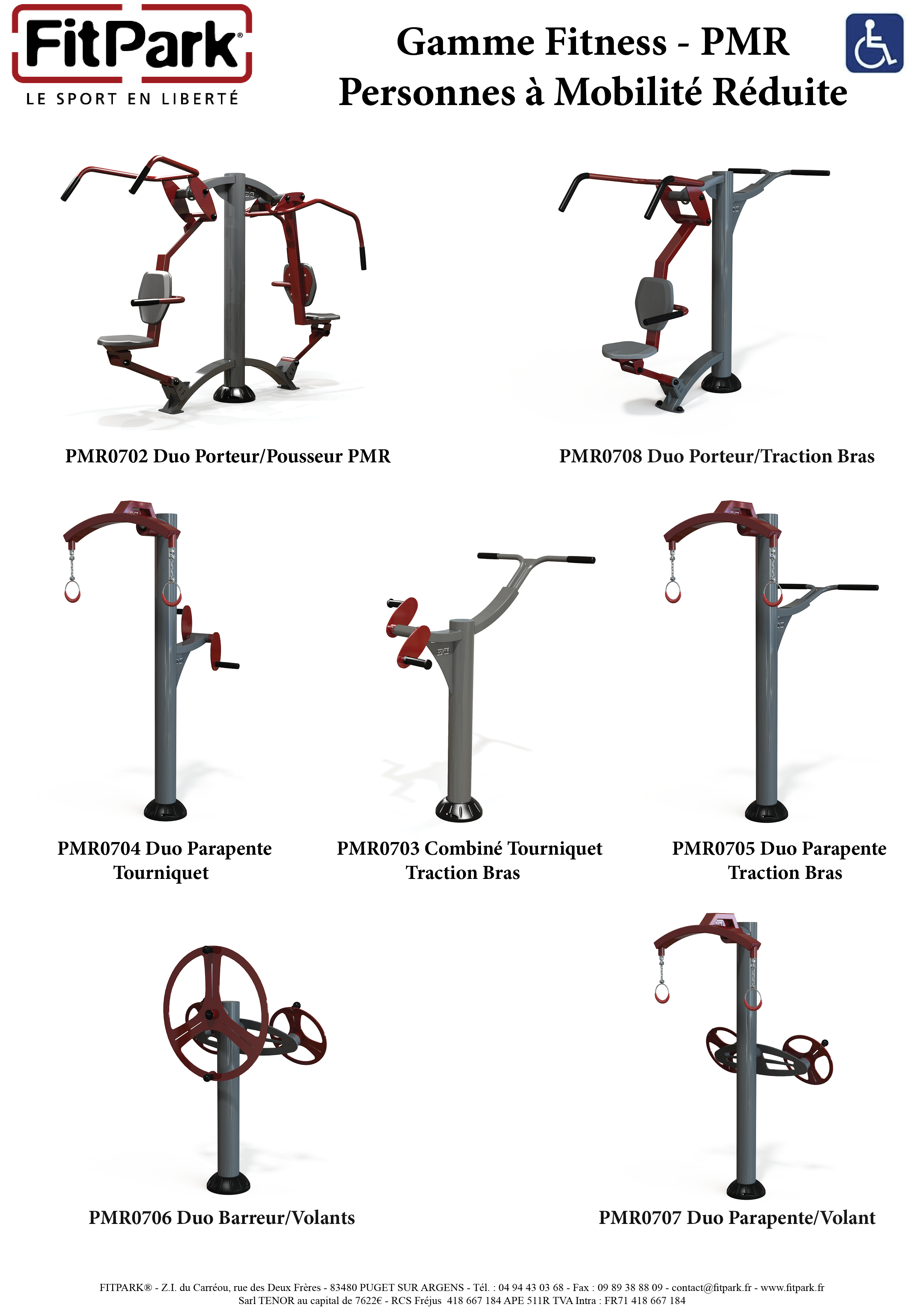 Fitpark gamme fitness - PMR